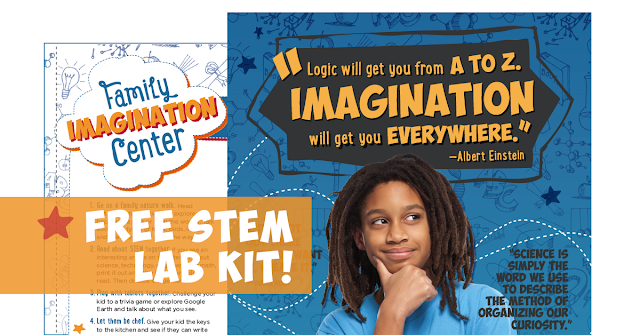 Free STEM Lab Kit from CITGO Fueling Education. Logic will get you from A to Z, Imagination will get you everwhere - Einstein
