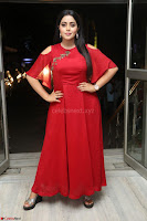 Poorna in Maroon Dress at Rakshasi movie Press meet Cute Pics ~  Exclusive 40.JPG