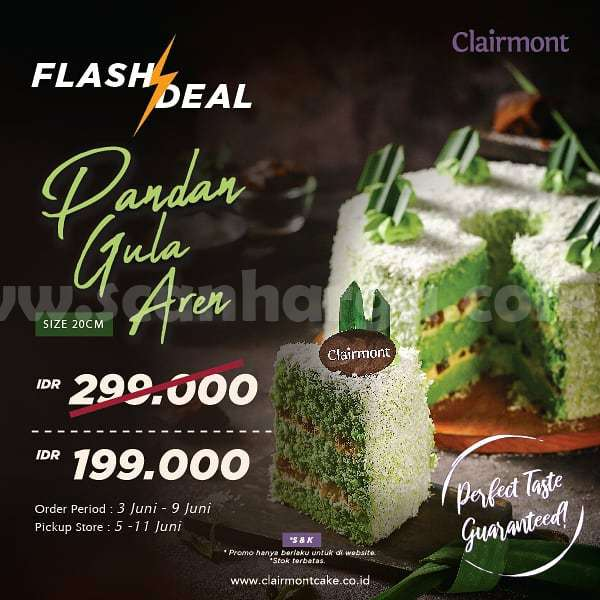 Promo Clairmont Flash Deal - Harga Spesial Pandan Gula Aren hanya Rp.199.000