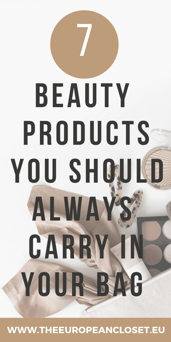 I started to realize that there is only a handful of beauty-related products I use pretty much every time I leave the house, so I started only carrying those around with me. Those became my essentials. The things I can't leave the house without. Then I realized these are things all women should carry in their bags, so I decided to write this post down for you to refer to whenever you're about to leave the house and don't know what to take with you. #beauty #beautyessentials