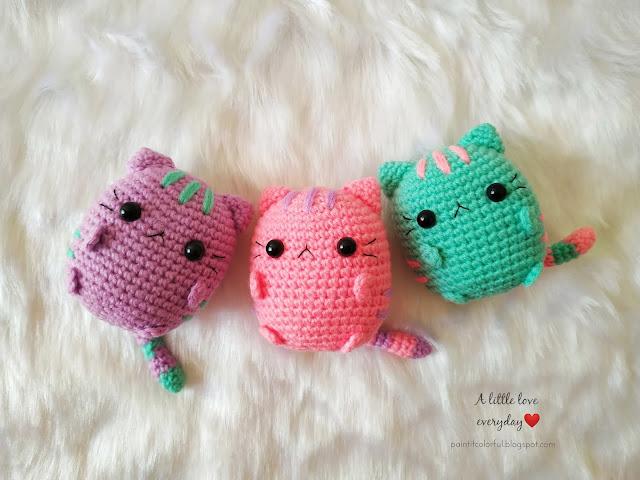 Pastel pusheen Amigurumi pattern - A little love everyday! | 480x640