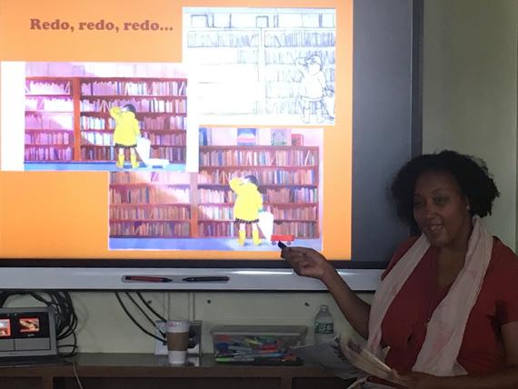 Shadra Strickland explains her illustration process.