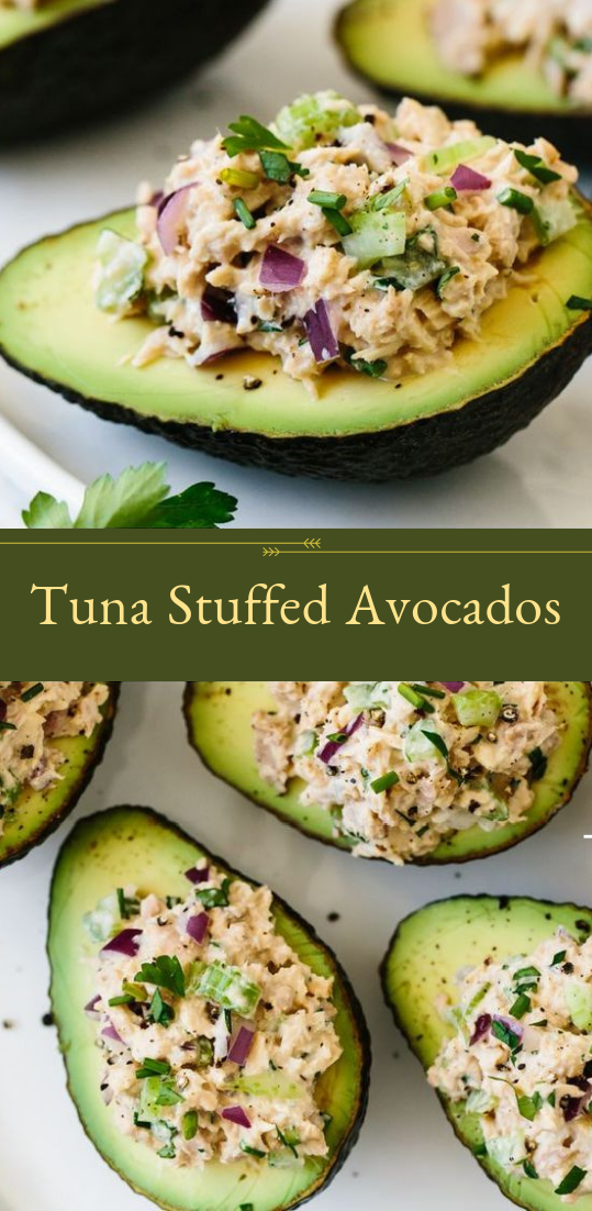 Tuna Stuffed Tuna Stuffed Avocados #healthyfood #dietketo