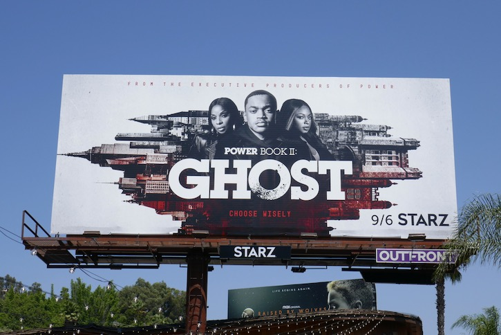 Power Book II Ghost series premiere billboard