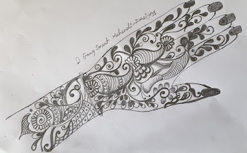 Peacock mehndi design for the front hand  | Karvachauth Special