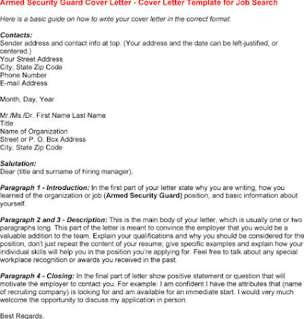 Government Armed Security Guard Cover Letter. Accounting & Finance ...