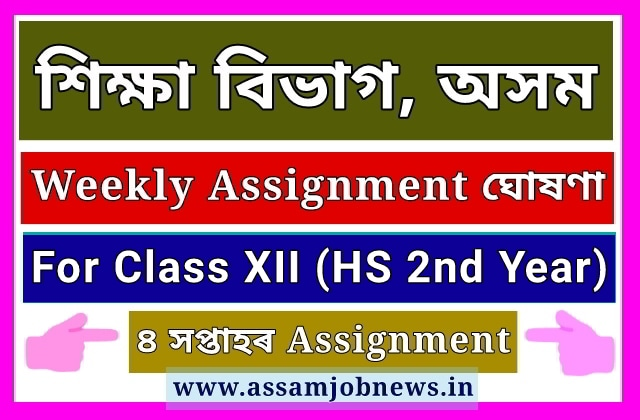 Assam Weekly Assignment for HS 2nd Year 2020