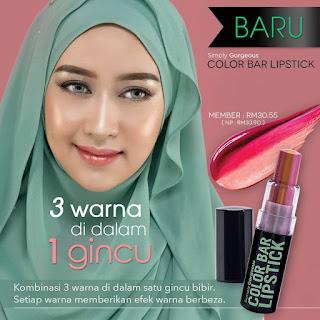 Normal price : RM 33.90 Member price : RM 30.55  ✿ Nak beli dengan harga ahli ?  ✿ Whtsapp 0134040411 → confirm dapat harga ahli TANPA perlu daftar ☺  SG Color Bar Lipstick