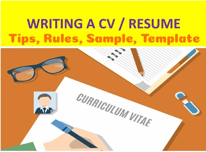 Curriculum Vitae  Writing Tips & Rules, Sample and Template