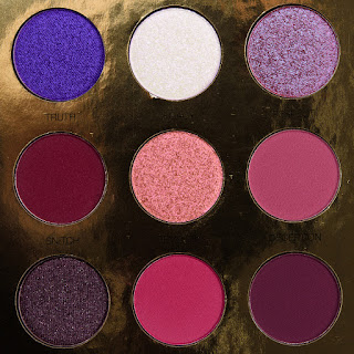 Coloured purple palette