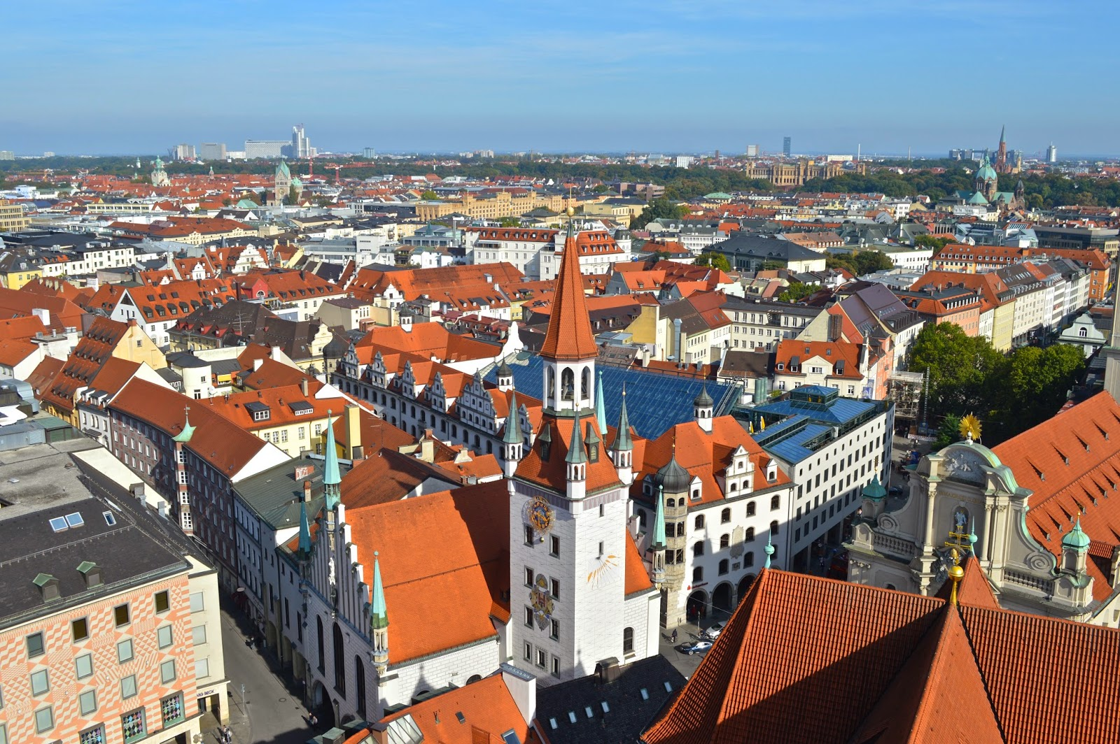 View from the top of Kirche St. Peter Tower