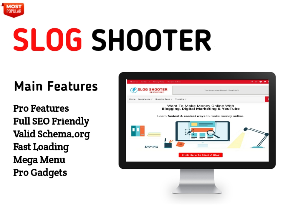 Slog Shooter Blogger Template