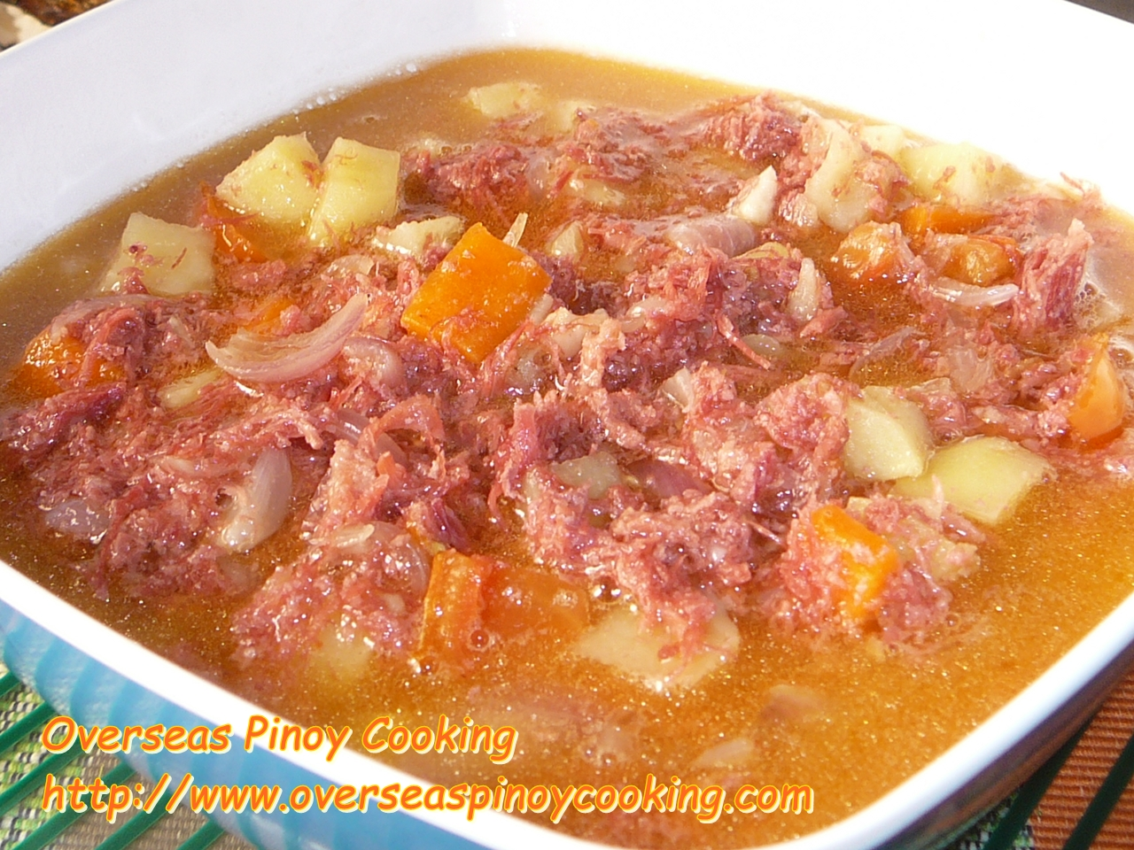 Ginisang Corned Beef Soupy Version