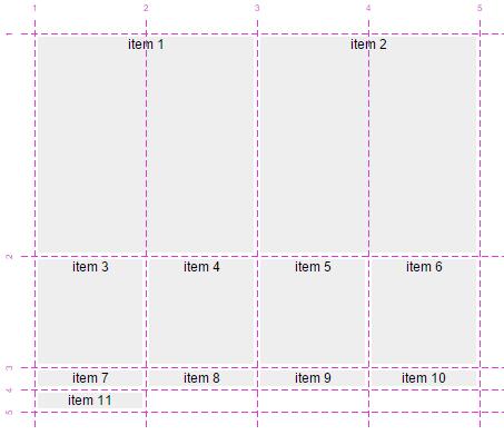 Css grid layout expandido