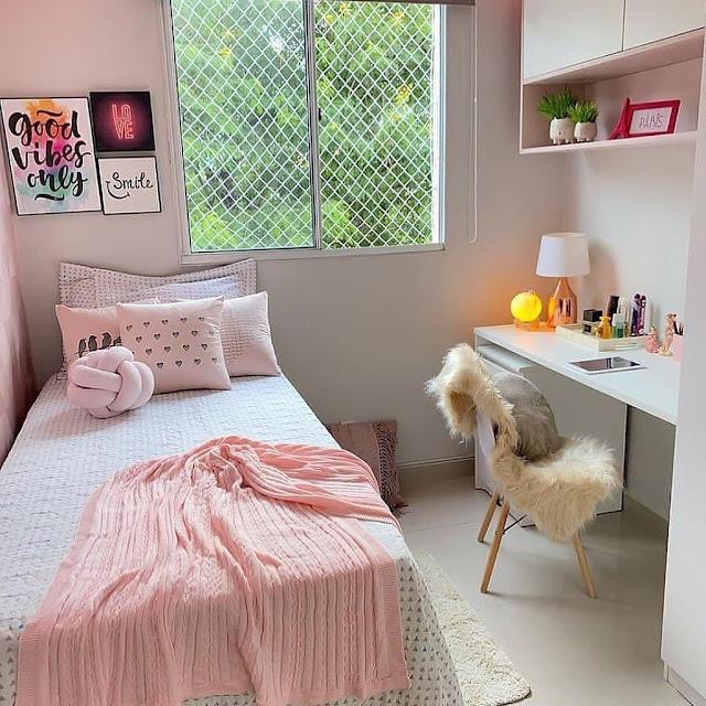 Desain Kamar Tidur Sederhana untuk Anak Remaja Perempuan