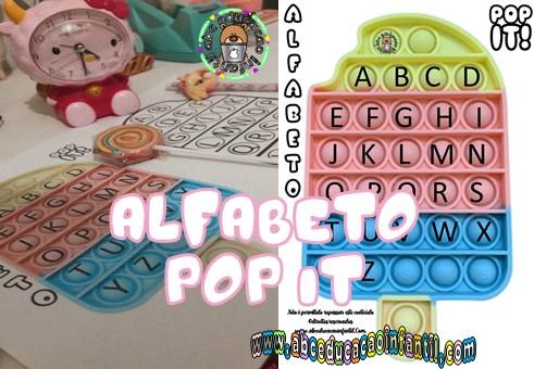 Atividades com alfabeto Pop it