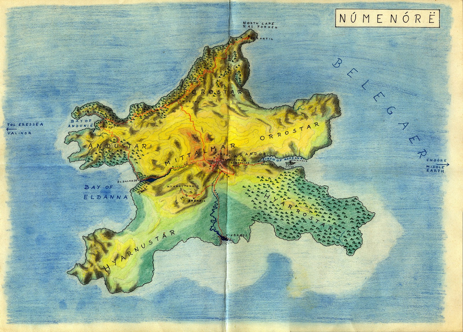 numenor2bgb map of beleriand and