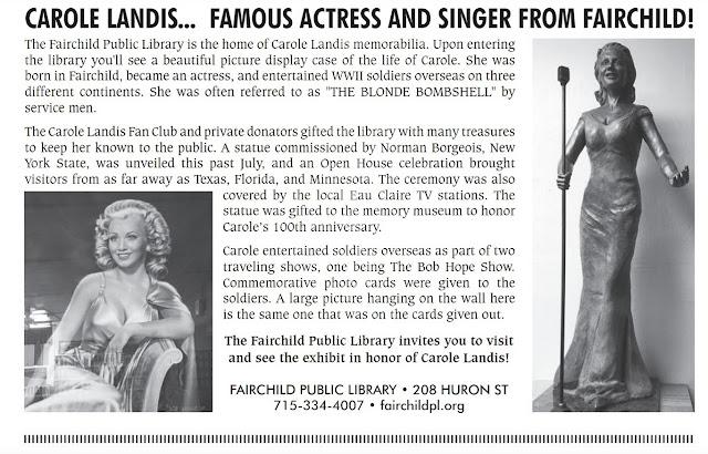 Carole Landis Fairchild Article