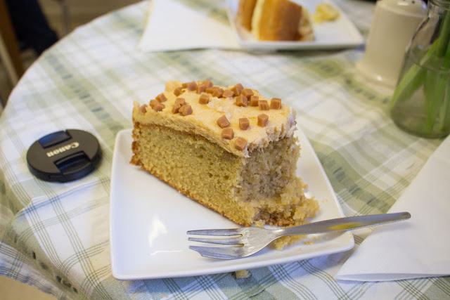 Salted caramel cake at the Chalbury Deli
