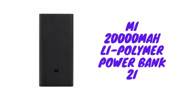 Mi 20000mAH Li-Polymer Power Bank 2i (Sandstone Black) with 18W Fast Charging