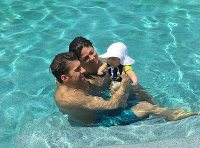 1st day of retirement: Olympic champion Micheal Phelps bonds in a pool with family