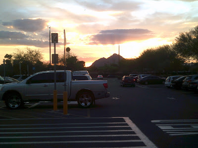 Sunset at Walmart, Salt River Pima-Maricopa Indian Commmunity, AZ