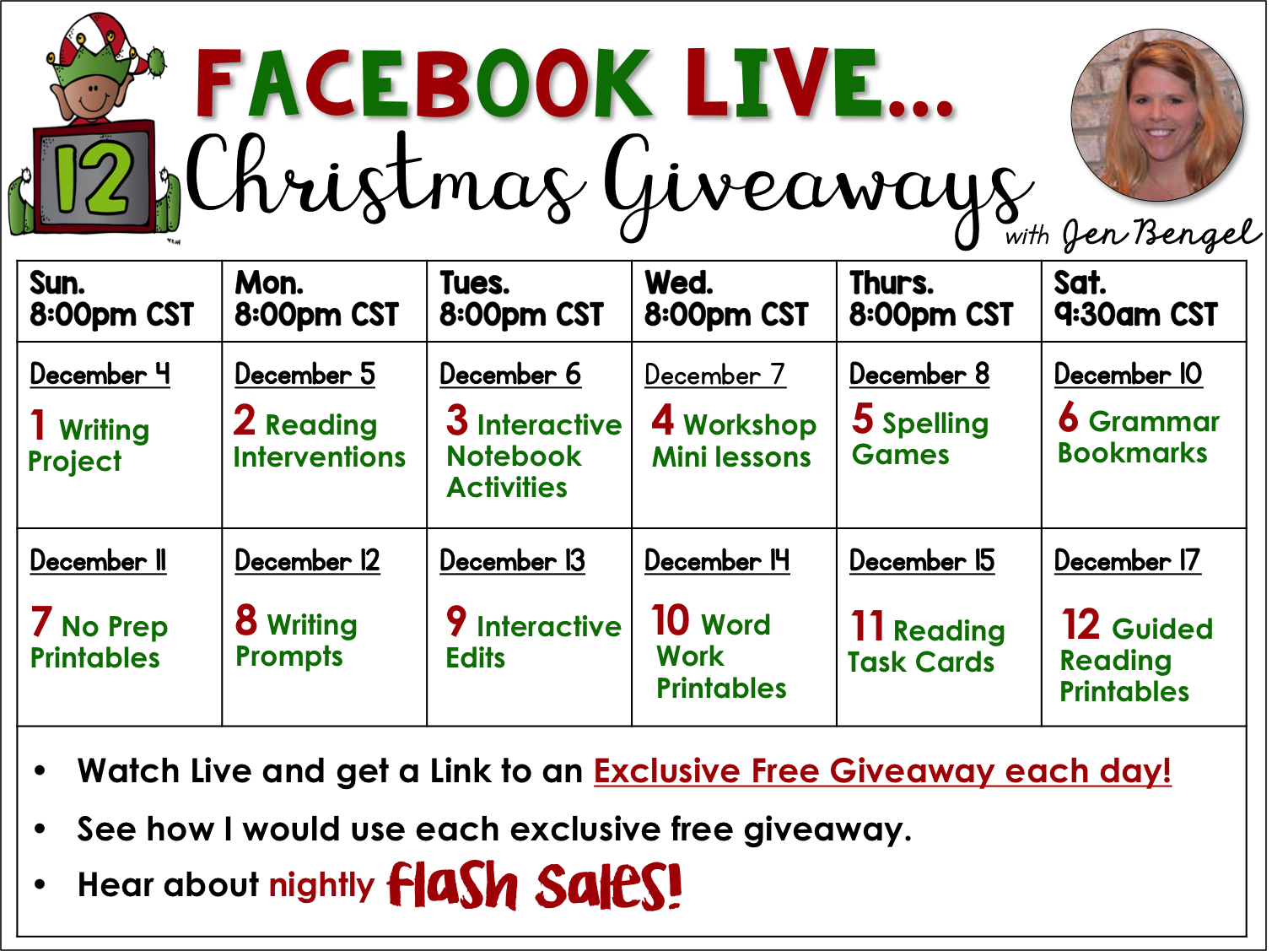 Facebook christmas giveaways contest