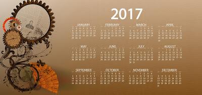 Happy New Year Calendar 2017 Wallpaper