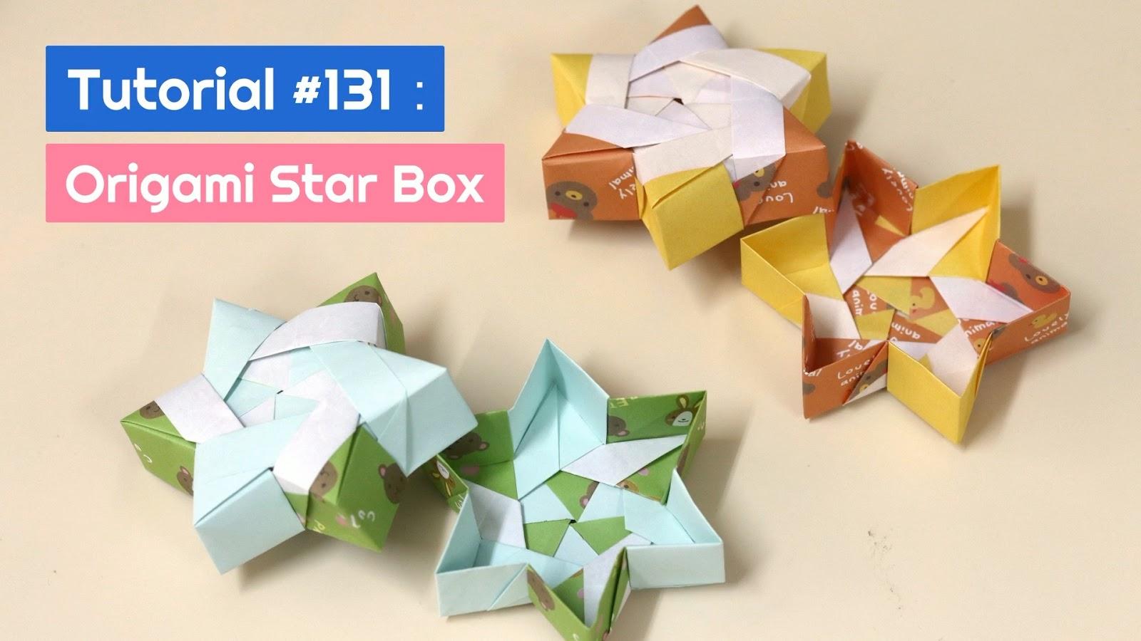 Modular Origami Box Tutorial - Infinity Lid - Paper Kawaii - YouTube | 900x1600