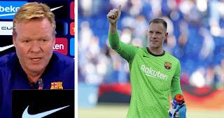 Ronald Koeman confirms Barcelona keeper Ter Stegen out ahead of Real Madrid clash