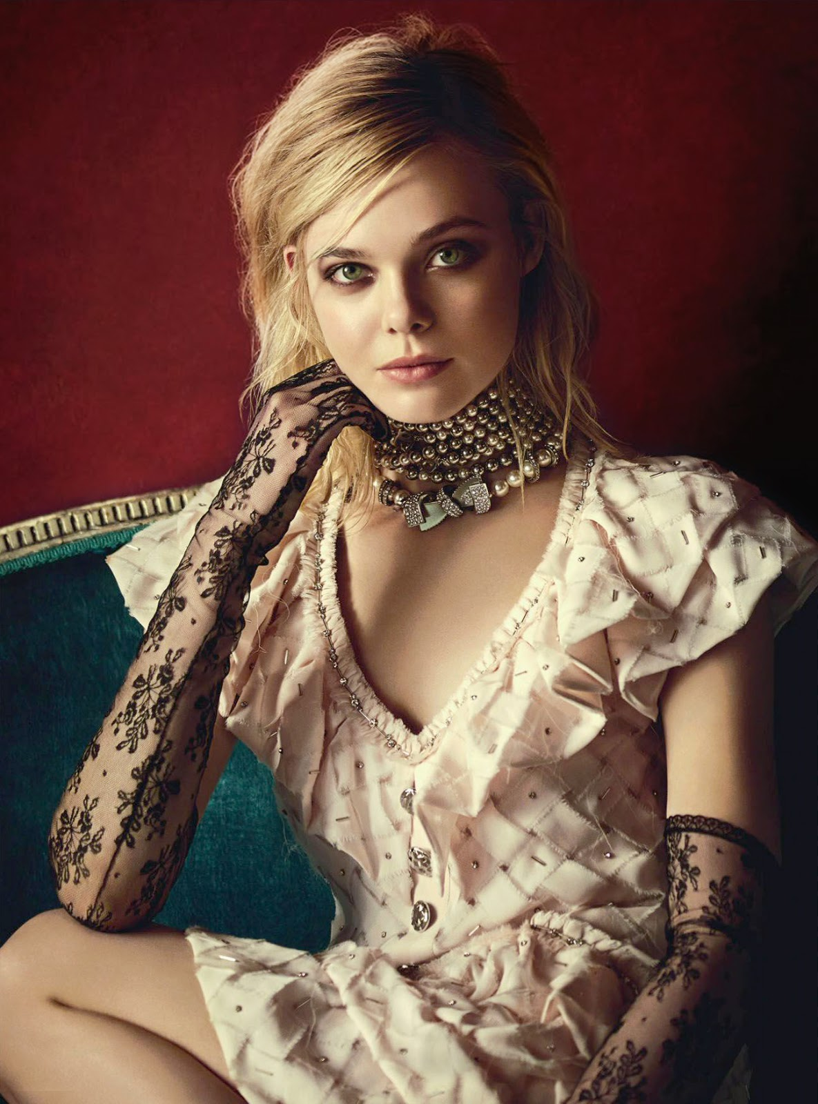 Elle Fanning Covers Fashion Magazine Says She Loves Being: Elle Fanning In Vogue Australia March 2016 By Boo George