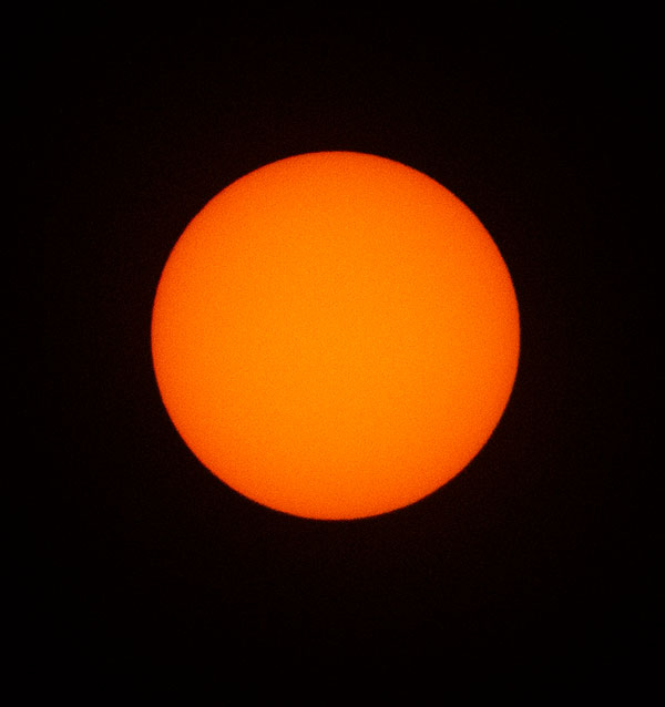 Finally, the sun comes out of the clouds at 9:13 am in Orange County (Source: Palmia Observatory)