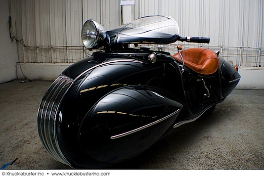 Orley Raymond Courtney's streamlined Henderson KJ motorcycle
