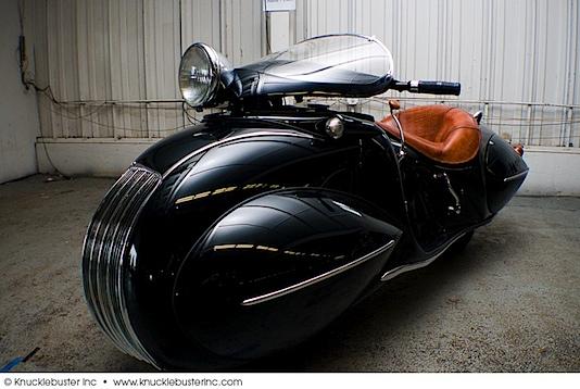 Orley Raymond Courtney's streamlined Henderson KJ motorcycle