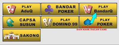 cara ingin bermain poker banyak pilihan contohnaya anda mau bermain bandaQ