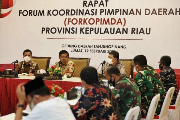 Rapat Forkopimda, Pj Gubernur Kepri Sampaikan 3 Hal Penting