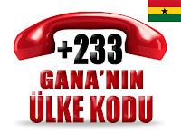 +233 Gana ülke telefon kodu