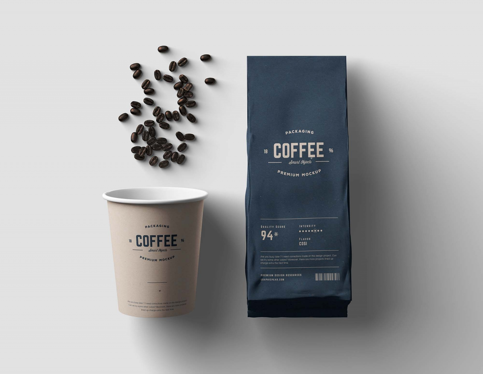 Download موك أب لعرض التصاميم على كوب القهوة | Free Coffee Package ...