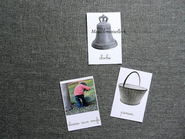 || Cartes de nomenclature ; Imagier de Pâques