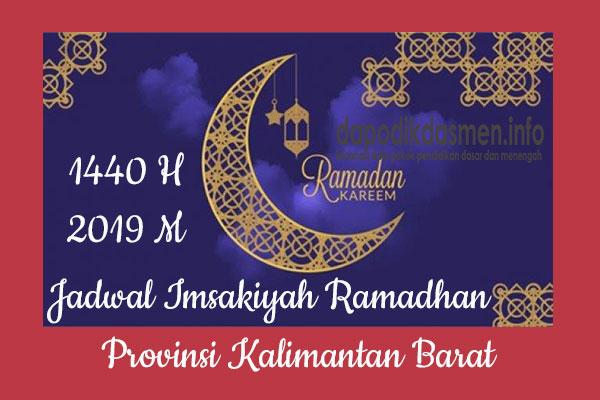 Jadwal Imsakiyah Ramadhan Provinsi Kalimantan Barat