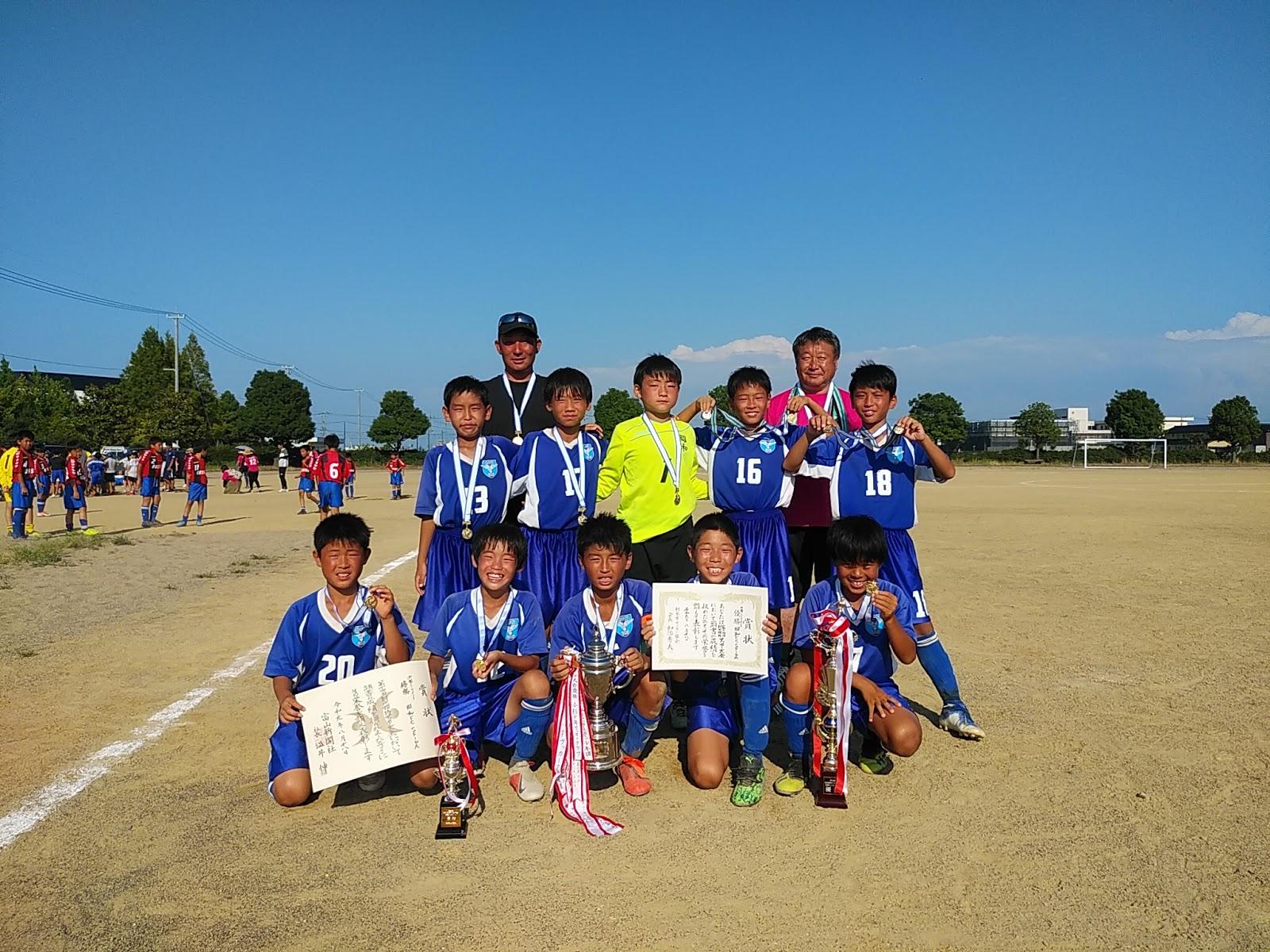 2019年度U12第14回射水招待サッカー大会 優勝!!