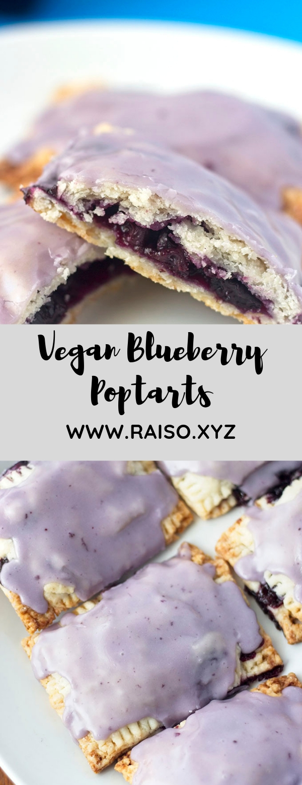 Vegan Blueberry Poptarts #VEGAN #BREAKFAST #DESSERT #SNACK