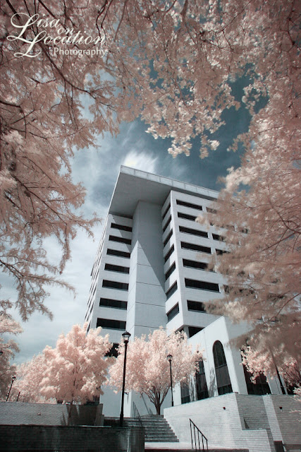 J.C. Kellam building, Texas State University, infrared