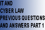 Kerala Psc IT and Cyber Laws Previous Questions and Answers Part 1