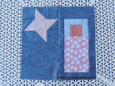 quilt block mania pieced block Sew Joy Creations sleeping bag friendship star