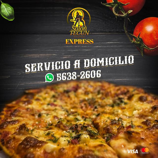 Las Mejores Pizzas de Quetzaltenango, Servicio a domicilio Tel: 5638-2606