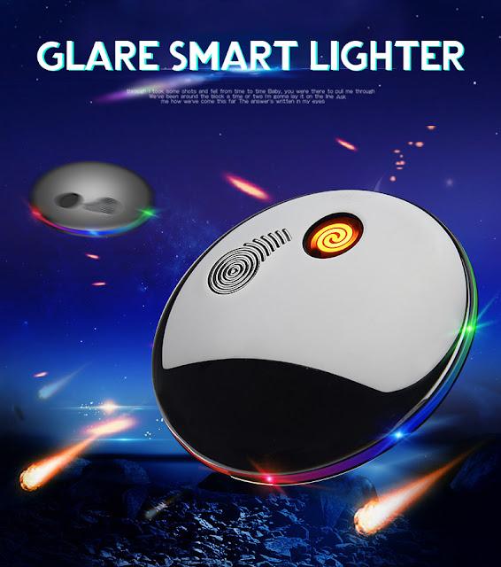 KCASA USB Electronic Ignitor Starter Portable Tungsten Windbreak Fingertip Gyro Lighter Creative Hand Spinner