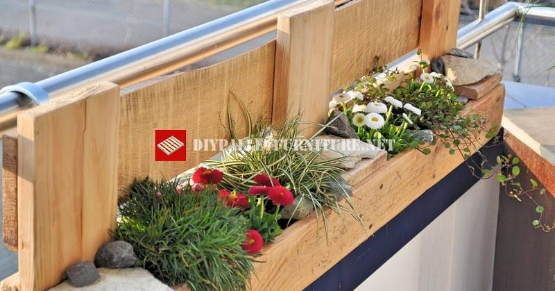 Jardinera para el balc n de palets - Jardinera balcon ...