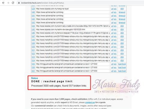 Bahayanya Broken Link kepada sebuah Blog, kesan broken link, cara buang broken link, cara check broken link,