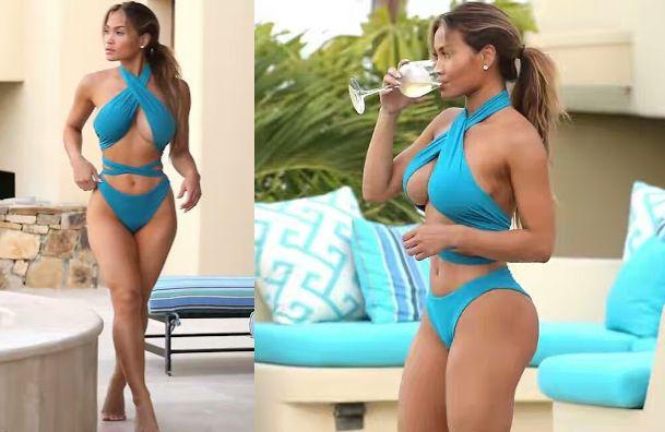 Top Model Daphne Joy In Bikini Flaunts Boobs At The Pool